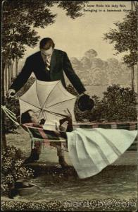 A Lover Finds His Lady Fair Swinging In A Hammock There