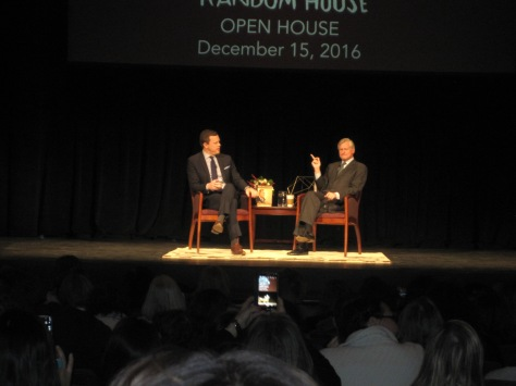 "Willie Geist of ""Morning Joe"" with presidential historian and Random House Executive Editor, John Meacham."